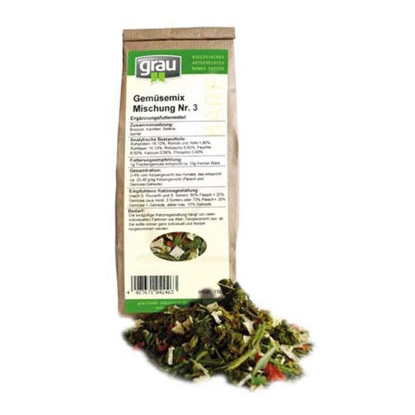 Grau BARF Gemüsemix Mischung Nr.3 150g