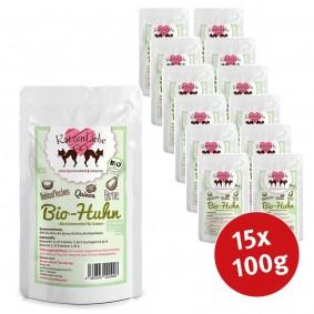 Katzenliebe Bio-Huhn mit Bio-Quinoa, Bio-Birne, Bio-Kokosflocken 100g