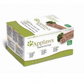 Applaws Cat Paté Huhn, Lamm & Lachs 7x100g