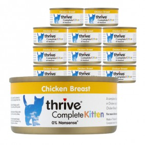 thrive Cat Complete Kitten Huhn 12x75g
