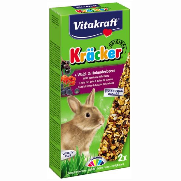 Vitakraft Zwergkaninchen Kräcker mit Wald- & Holunderbeere 2 Stück