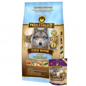 Wolfsblut Cold River 15kg + Wolfsblut Squashies Black Bird 300g gratis