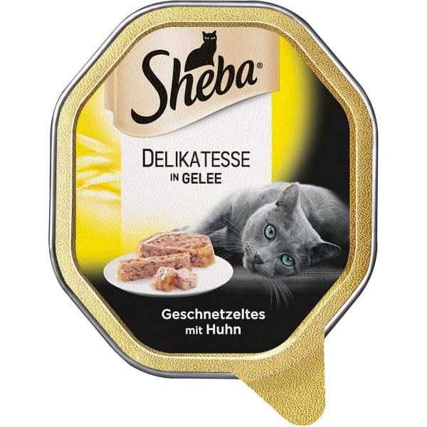 Sheba Delikatesse in Gelee Geschnetzeltes mit Huhn