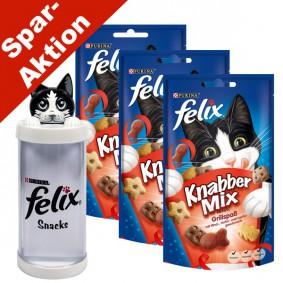 Felix Knabber Mix Grillspaß 3er Pack - Gratis Snackspender
