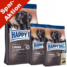 Happy Dog Hunde-Trockenfutter Canada 12,5kg + 2x1kg gratis