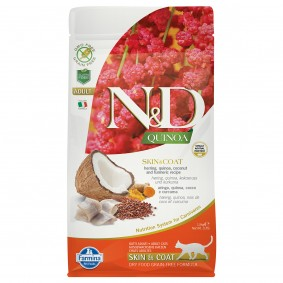 N&D Cat Quinoa Skin & Coat Herring