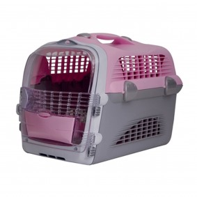Cage de transport « Pet Cargo Cabrio » - rose-gris