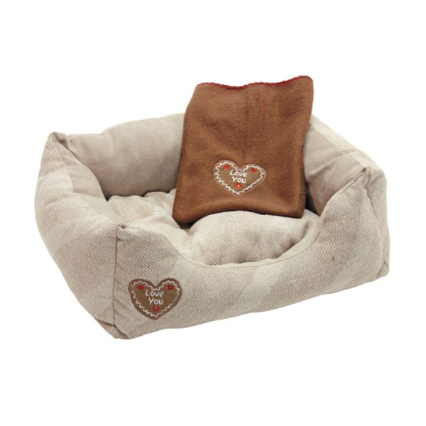 Kerbl Kuschelbett LOVE YOU, beige