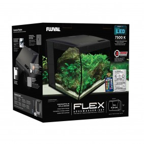 Fluval Aquarium Flex Set 34 L schwarz