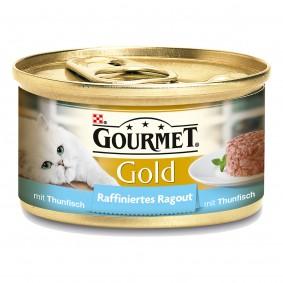 Gourmet Katzenfutter Gold Raffiniertes Ragout Thunfisch 12x85g