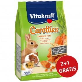 Vitakraft Carotties für alle Nager 3x50g 2+1 Gratis