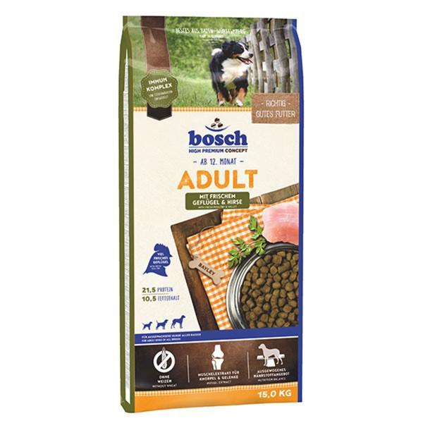 Bosch Hundefutter Adult Geflügel & Hirse - 15kg