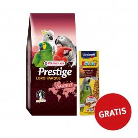 Versele Laga Amazone Papageien Loro Parque Mix15kg PLUS  Vitakraft Kräcker Honig-Anis für Papageien