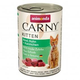 Animonda Katzen Nassfutter Carny Kitten Rind, Huhn und Kaninchen