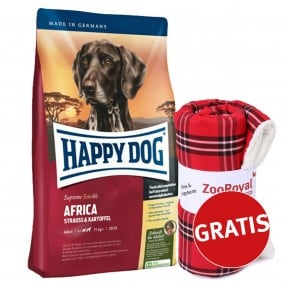 Happy Dog Supreme Sensible Africa 12,5kg + Decke by Wolters GRATIS