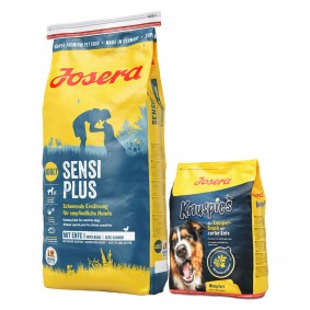 Josera Sensiplus 15kg + Knuspies 900g gratis