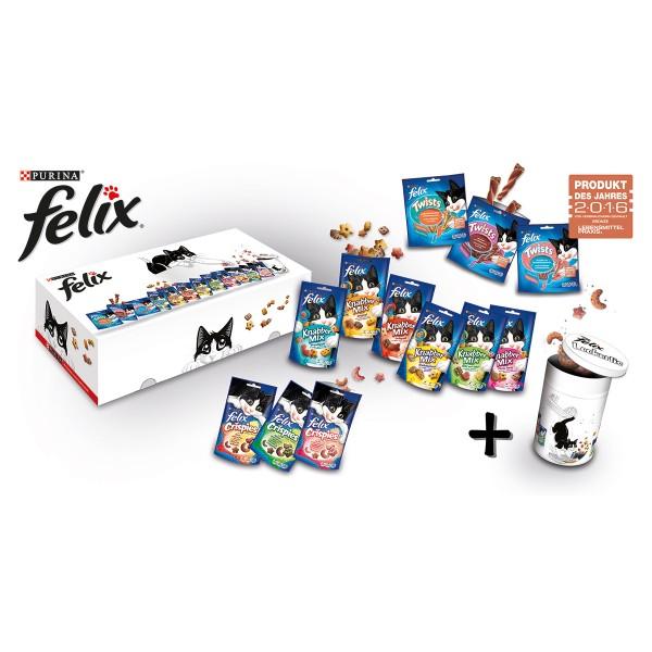Felix Katzensnacks verschiedene Sorten + gratis Dose
