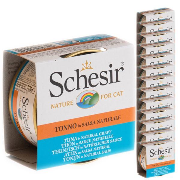 Schesir Katzenfutter Natural Sauce Thunfisch 14x70g