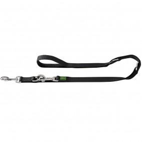 Hunter Nylon Extra Long Verstellbare Führleine, schwarz 300 cm