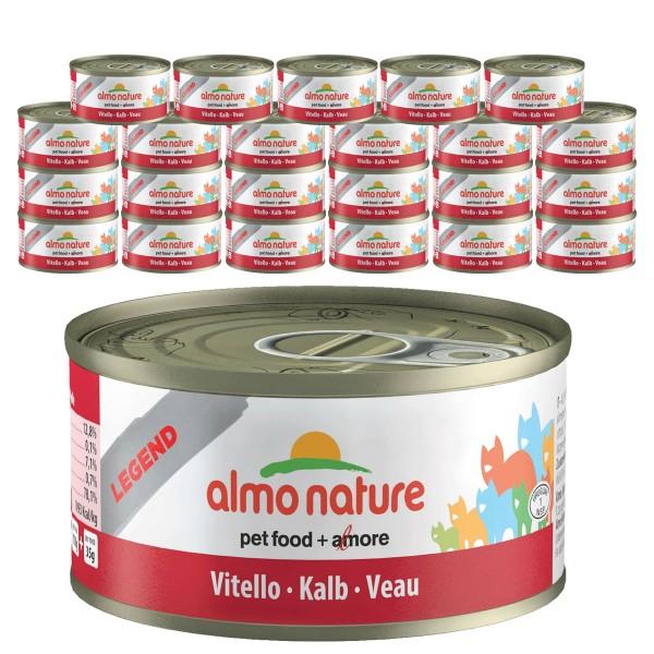 Almo Nature Legend Katzenfutter 24x70g Kalb