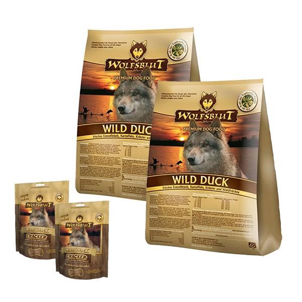 Wolfsblut Hundefutter Trockenfutter 30kg + 450g Cracker Hundesnacks