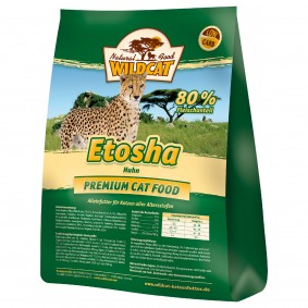 Wildcat Etosha mit Geflügel