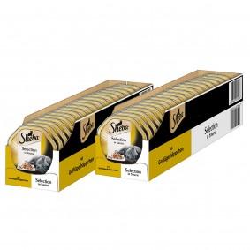 Sheba Katzenfutter Selection in Sauce Geflügelhäppchen 44x85g