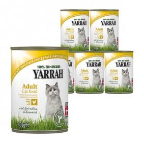 Yarrah Katzenfutter Bio Pate mit Huhn 12x400g