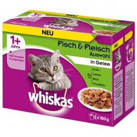 Whiskas Adult 1+ Fisch & Fleischauswahl in Gelee