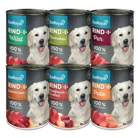 ZooRoyal Rind plus Hundefutter Mixpaket 400g Dosen