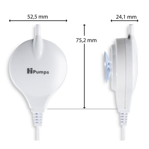 HPumps Belüfterpumpe Nano Piezo weiß 18l/h