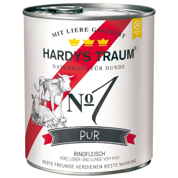 Hardys Traum Nassfutter Pur No. 1 Rind 6x800g