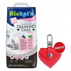 Biokat's Klumpstreu Diamond Care Classic Fresh 10L + Trixie Anhänger