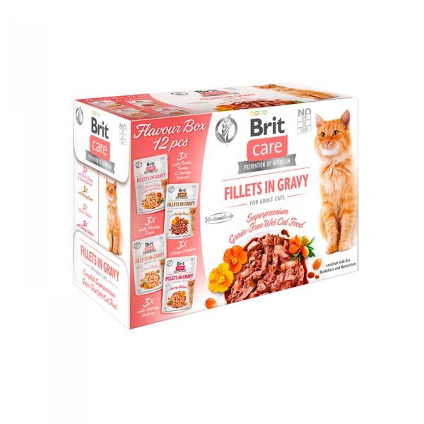 Brit Care Cat Flavour box-Fillets in Gravy