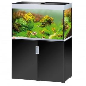 EHEIM incpiria 300 mit LED Beleuchtung schwarz hochglanz/silbermetallic