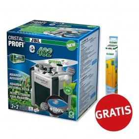JBL Cristal Profi greenline e402 + Cleany Schlauchreinigungsbürste gratis