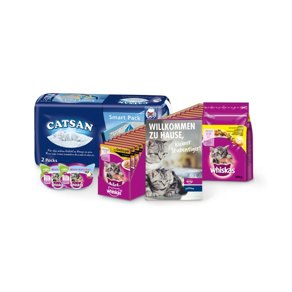 Whiskas Catsan Kitten Pack für Junior Katzen