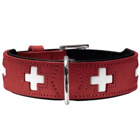 Hunter Swiss Halsband rot/schwarz