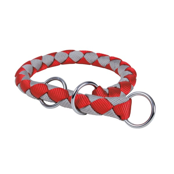 Trixie Halsband Cavo Würger rot/silber