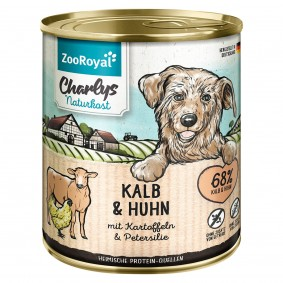 ZooRoyal Charlys Naturkost Kalb & Huhn mit Kartoffeln & Petersilie