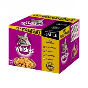 Whiskas Zarte Leckerbissen in Sauce 24x100g Multipack