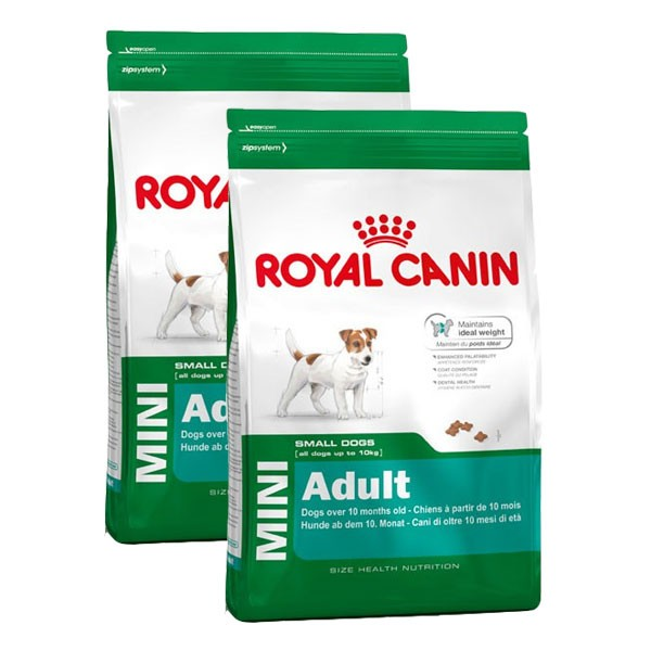 royal canin mini adult hundefutter 2x8kg kaufen bei zooroyal. Black Bedroom Furniture Sets. Home Design Ideas