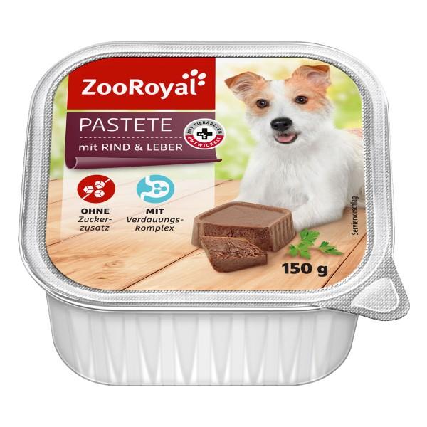 ZooRoyal Hunde-Nassfutter Pastete mit Rind & Le...