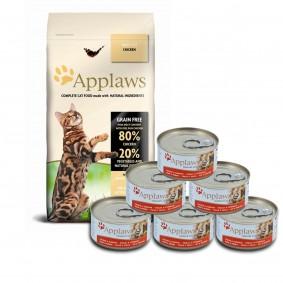 Applaws Probierpaket Mischfütterung Huhn 2kg + 6x70g