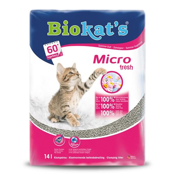 Biokat´´s Katzenstreu micro fresh die EXTRA-FEINE 14 Liter