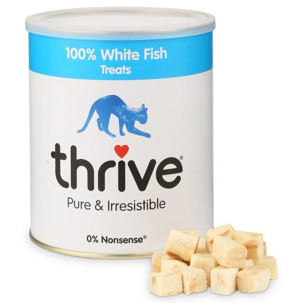 thrive 100% Weißer Fisch Katzensnack MaxiTube 110g