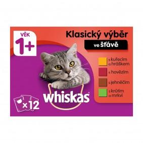 Whiskas kapsičky klasický výběr se zeleninou ve šťávě