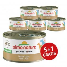 Almo Nature HFC Natural Dog Kalb 5+1 gratis