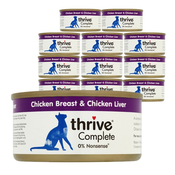 thrive Cat Complete Hühnerbrust & Hühnerleber 12x75g