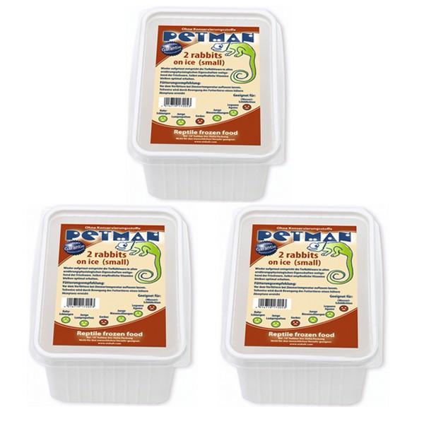 Petman Reptilien-Frostfutterpaket Kaninchen -Klein 3 Stk